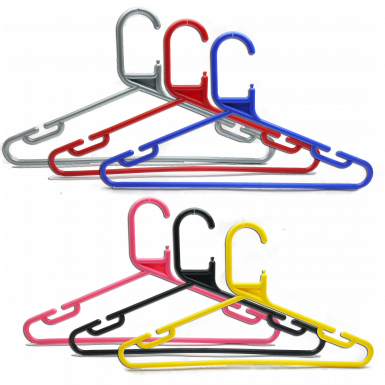 Plastic coloured hangers