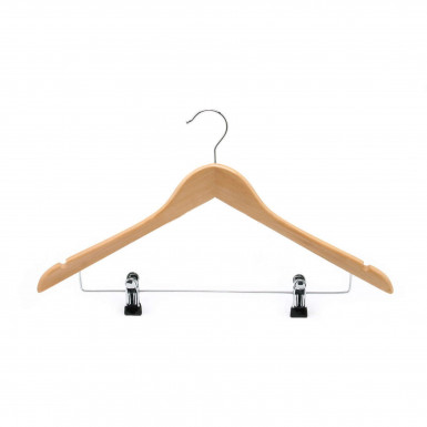 WOODEN COAT CLIP HANGERS