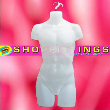 Male Hanging Body Form Full Retail Clothes Display Mannequin Semi-Clear (sdlfull)