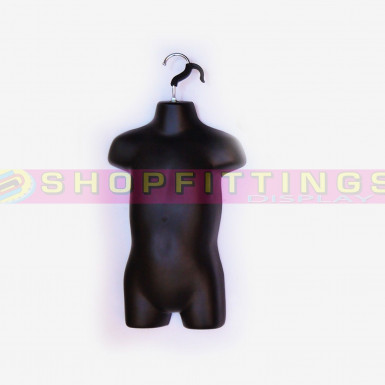 Baby Hanging Body Form Retail Clothes Display Mannequin Black (sdl135)