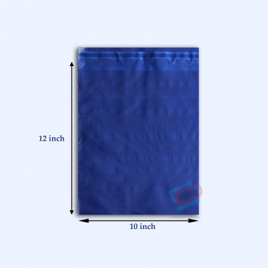 "100/500 Plastic Mailing Post Poly Postage Bags with Strong Self Seal HOT BLUE 10""x 12"""
