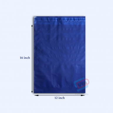 "100/500 Plastic Mailing Post Poly Postage Bags with Strong Self Seal HOT BLUE 12""x 16"""