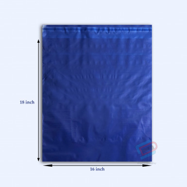 "100/500 Plastic Mailing Post Poly Postage Bags with Strong Self Seal HOT BLUE 16""x 18"""