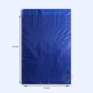 "100/500 Plastic Mailing Post Poly Postage Bags with Strong Self Seal HOT BLUE 17""x 24"""