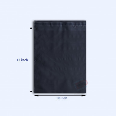 "100/500 Plastic Mailing Post Poly Postage Bags with Strong Self Seal BLACK 10""x 12"""