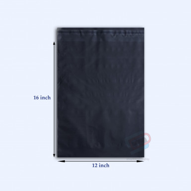 "100/500 Plastic Mailing Post Poly Postage Bags with Strong Self Seal HOT BLACK 12""x 16"""