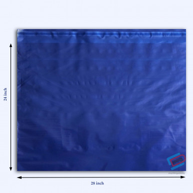 "100/500 Plastic Mailing Post Poly Postage Bags with Strong Self Seal HOT BLUE 24""x 28"""