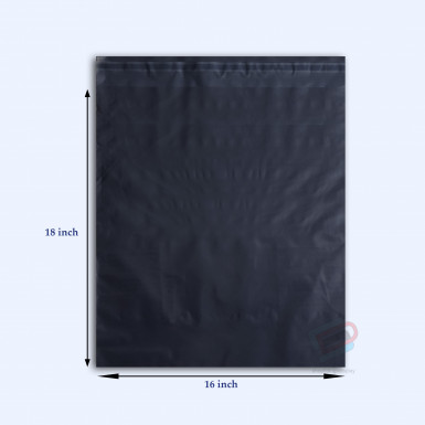 "100/500 Plastic Mailing Post Poly Postage Bags with Strong Self Seal BLACK 16""x 18"""