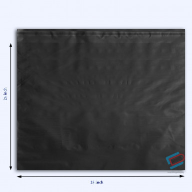 "100/500 Plastic Mailing Post Poly Postage Bags with Strong Self Seal BLACK 24""x 28"""
