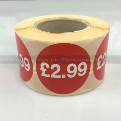 £2.99 ROUND SALE REDUCE SPECIAL OFFFER STICKER