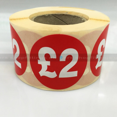 £2 ROUND SALE REDUCE SPECIAL OFFFER STICKER