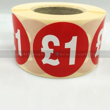 £1 ROUND SALE REDUCE SPECIAL OFFFER STICKER