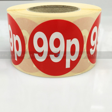 £0.99 ROUND SALE REDUCE SPECIAL OFFFER STICKER