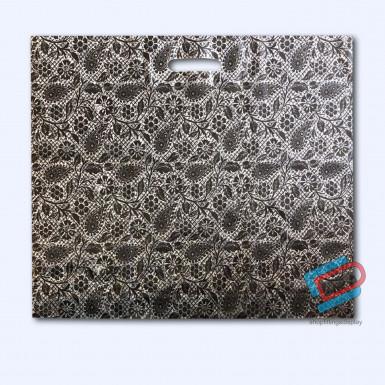 100/500 BLACK HENNA PLASTIC CARRIER BAGS