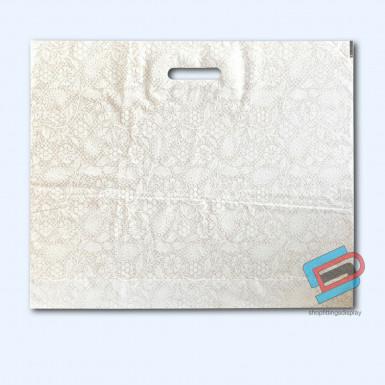 100/500 WHITE HENNA PLASTIC CARRIER BAGS