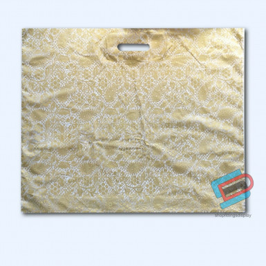 100/500 GOLD HENNA PLASTIC CARRIER BAGS