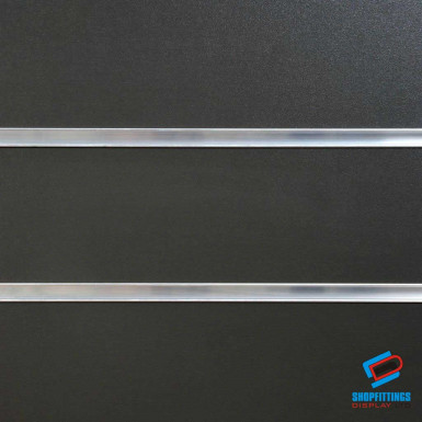 Graphite Grey Slatwall Panel 4ft x 4ft (Even Number) / 8ft x 4ft
