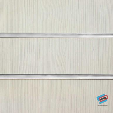 Pino White Slatwall Panel 4ft x 4ft (Even Number) / 8ft x 4ft