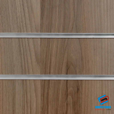 Light Walnut Slatwall Panel 4ft x 4ft (Even Number) / 8ft x 4ft