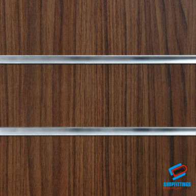 Walnut Slatwall Panel 4ft x 4ft (Even Number) / 8ft x 4ft