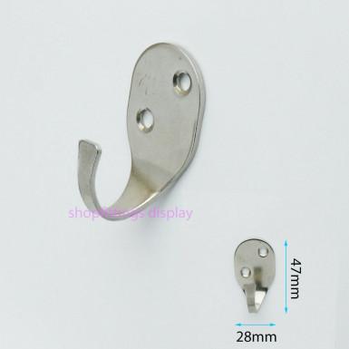 Single Coat Hanger Hook Door Wall Bath Metal Strong Hooks
