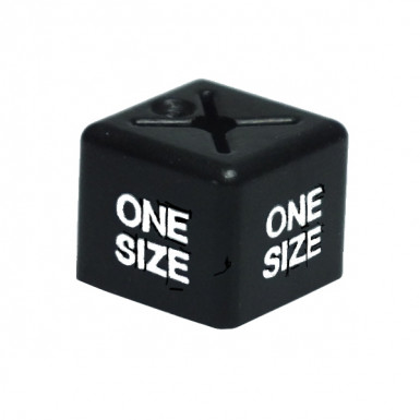 50x One Size Size Cube Black