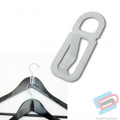 "10x 2"" Space Saving Hanger Connectors, Garment, Clothes, Coat Hanger Connector Hooks"