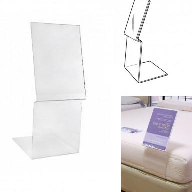 Acrylic Mattress Poster Displays Bedding Ticket Holder