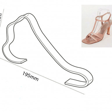 NEW ACRYLIC SANDAL STRAP SUPPORT SHOE SHAPER SHOE RETAIL DISPLAY SMALL/LARGE