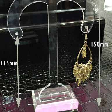 Earing Stand Jewellery Retail Shop Display Busts Earing Holder UK Clear Large/Medium/Small