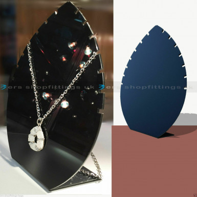 14 Notches Black Necklace Stand Jewellery Retail Shop Display Busts Earing Holder UK
