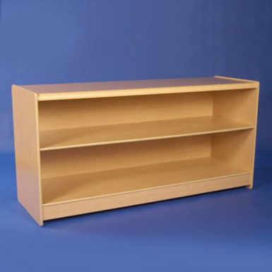 SOLID DISPLAY COUNTER 1800MM WHITE & MAPLE