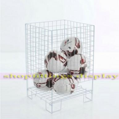 White Square Dump Bin Wire Basket Shop Display Shopfittings & Retail 48cm