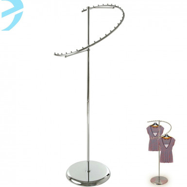 HEAVY DUTY SPIRAL CLOTHES GARMENT DRESS HANGING RAIL