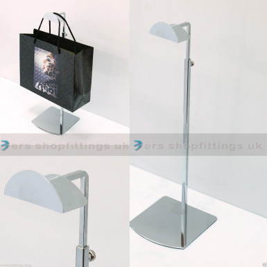 Adjustable Handbag Bag Display Half Circle Stand Hat Scarf Necklace Hanger