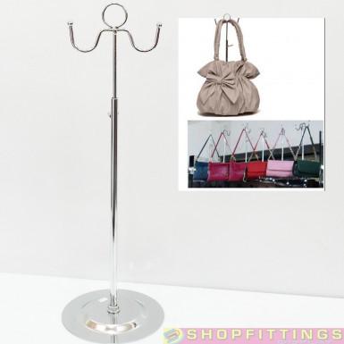 Adjustable Handbag Bag Display Two Round Hooks Stand Hat Scarf Necklace Hanger