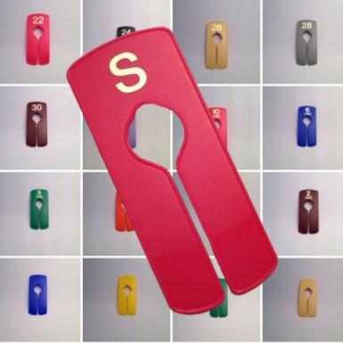 Garment Rail Dividers Clothes Size S M L Plain Colours Popular Sizes Separators Pack of 5