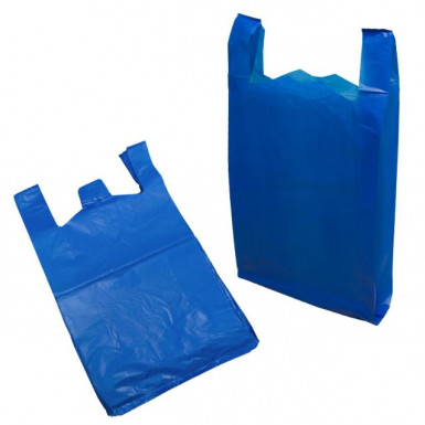"LARGE 11"" x 17"" x 21"" Blue Vest  TOPAZ  2,000 / Carton"