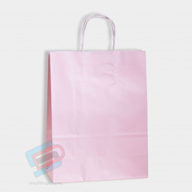 Baby Pink Paper Bags (PACK OF 25)