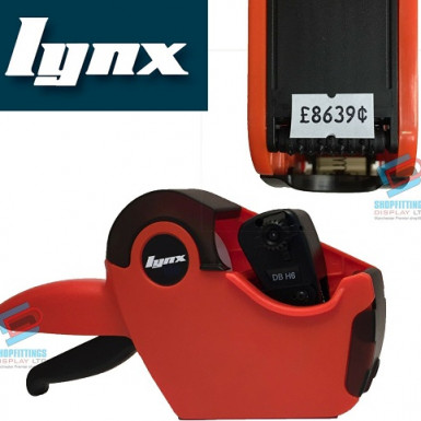LYNX Lynxlite 2112 Orange One-Line Price Gun with 6 Numeric Bands