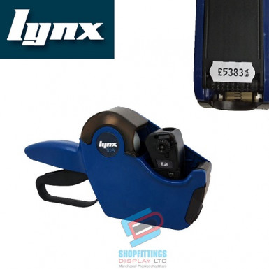 LYNX Lynxlite 2612 One-Line Price Gun with 6 Numeric Bands (Blue body)