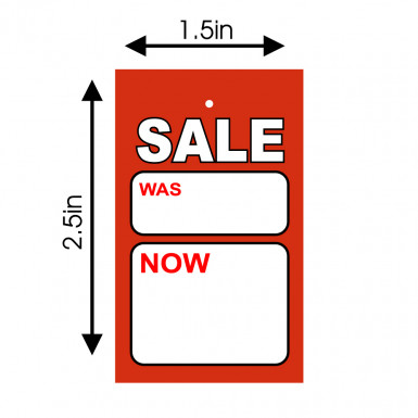 SALE CARDS TAGGING GUN PRICING GUN HANGER SWING SALE WAS NOW TICKETS SMALL