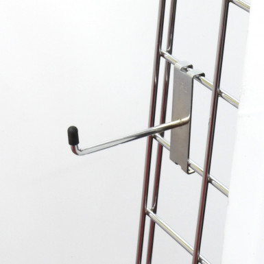"4"" Gridwall Chrome Hook/Prong Single"