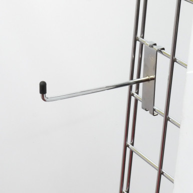 "6"" Gridwall Chrome Hook/Prong Single"