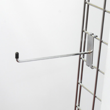 "8"" Gridwall Chrome Hook/Prong Single"