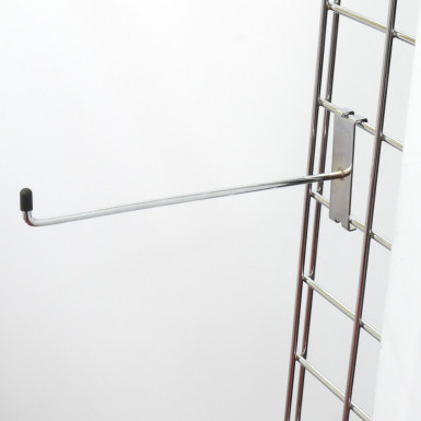 "10"" Gridwall Chrome Hook/Prong Single"
