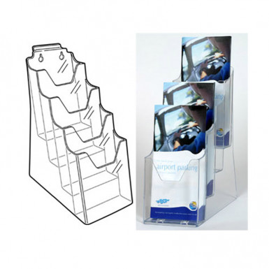 DL Multi-Tier Leaflet Holders 3 in 1 (1/3 A4 Trifold)