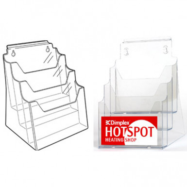 A4 Multi-Tier Leaflet Holders 3 in 1