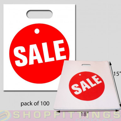 Sale carrier bags (pack of 100)