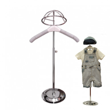 Kids Mannequin Bodysuit Hanger Display Stand with Hat Holder